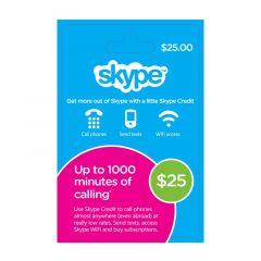 NETCARDS - SKYPE $25