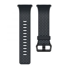 FITBIT IONIC PERFORATED LEATHER WATCH STRAP MIDNIGHT BLUE SMALL