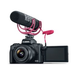 CÁMARA RÉFLEX CANON M50 EF-M 24.1 MP CON LENTE 15-45MM CON VIDEO CREATOR KIT-NEGRO