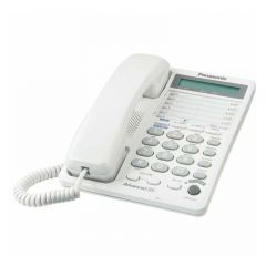 TELÉFONO ALÁMBRICO PANASONIC KX-TS208LXW DOBLE LÍNEA-BLANCO