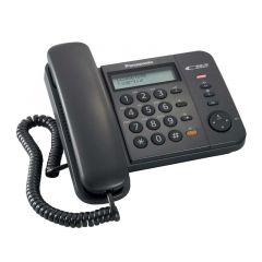 TELÉFONO ALÁMBRICO PANASONIC KXTS580LXB CON IDENTIFICADOR DE LLAMADA NEGRO