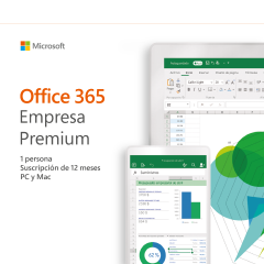 MICROSOFT OFFICE 365 EMPRESA PREMIUM 2019 PC/MAC - 1 USUARIO