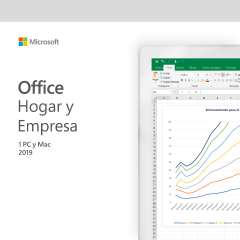 MICROSOFT OFFICE HOGAR Y EMPRESAS PARA PC/MAC 2019 - 1 USUARIO