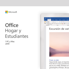 MICROSOFT OFFICE HOGAR Y ESTUDIANTE PARA PC/MAC 2019 - 1 USUARIO